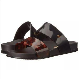 Melissa Cosmic Jelly Shoes Black Tortoise Shoes 5